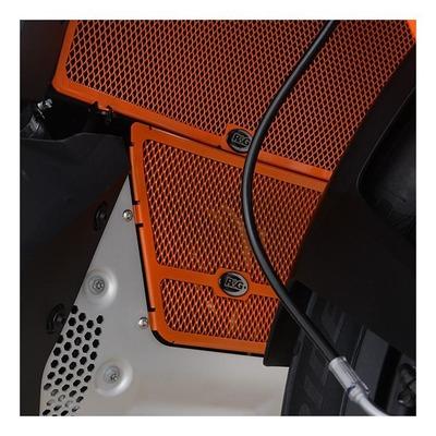 Grille de protection de collecteur R&G Racing orange KTM 790 Adventure 19-21
