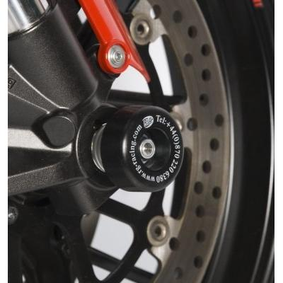 Tampons de protection de fourche R&G Racing noirs Ducati 848 Streetfighter 12-15