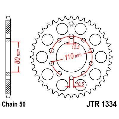 Couronne JT Sprockets Acier pas 530 46 dents - Pour Honda CB 750 F 80-82