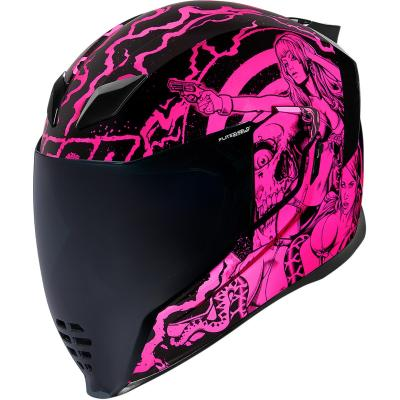 Casque intégral Icon Airflite Pleasuredome Redux rose