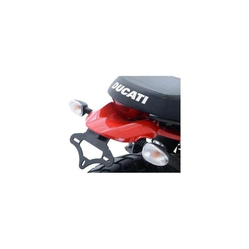 Support de plaque d'immatriculation R&G Racing noir Ducati Scrambler Icon 15-18