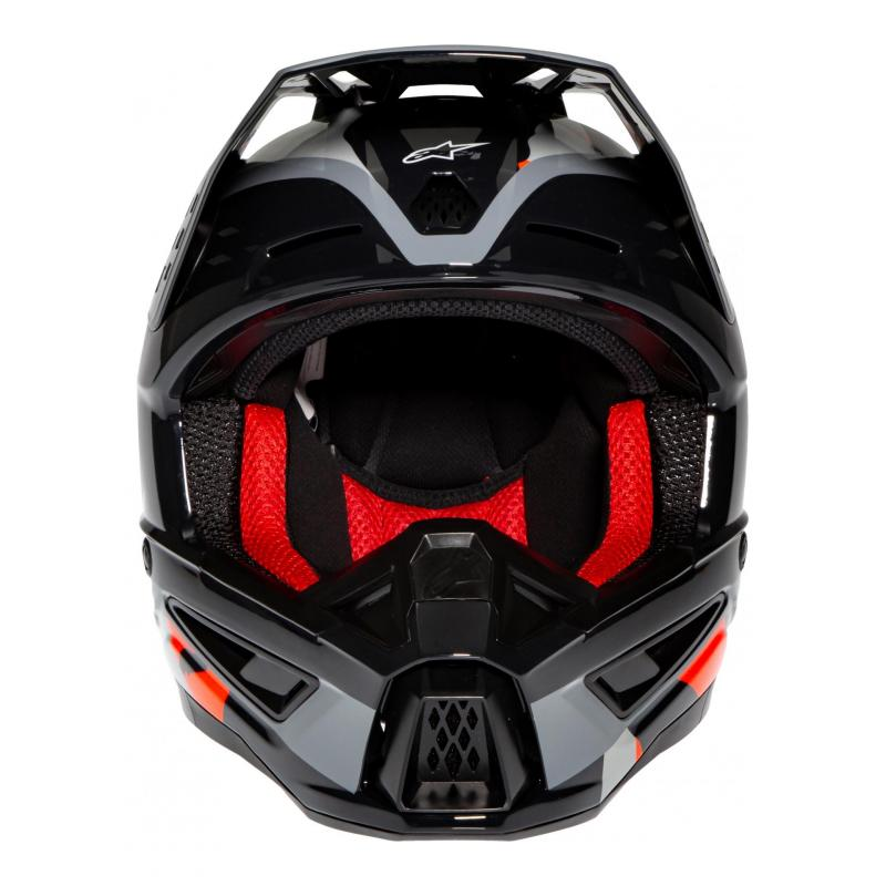 Casque cross Alpinestars S-M5 Rover anthracite/rouge fluo/gris camouflage brillant - 3