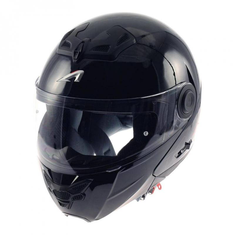 Casque Modulable Astone Rt800 Solid Exclusive noir gloss