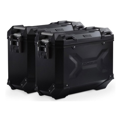 Valises latérales SW-MOTECH TRAX ADV noires 37L support PRO Ducati Multistrada 1260 Enduro 18-20