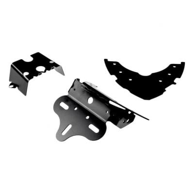 Support de plaque d'immatriculation R&G Racing noir Suzuki Gladius 650 09-16