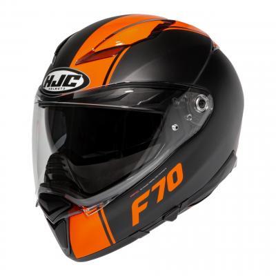 Casque intégral HJC F70 Mago MC7SF noir mat/orange brillant