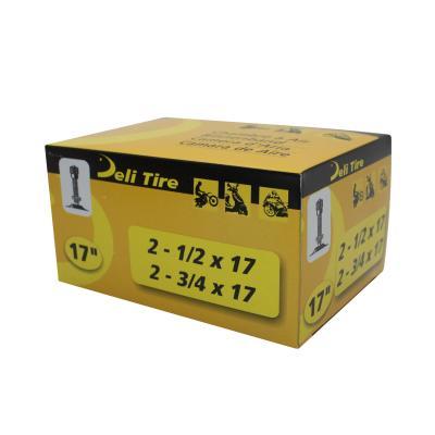 Chambre à Air 17 2 3/4x17 Vs Deli valve Droite Filetée avec Écrou