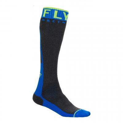 Chaussettes Fly Racing MX Pro Socks Thick bleu/jaune fluo/gris foncé