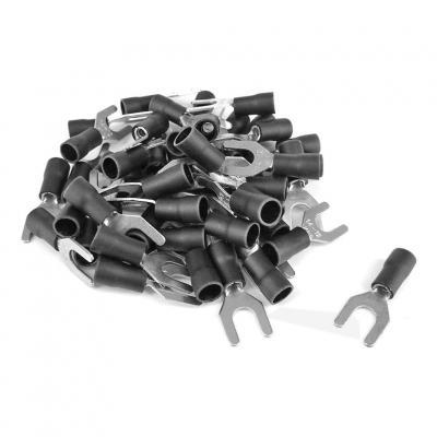 COSSES FOURCHES Diam6 2.5-4.0mm2 noire(boite 50pcs)