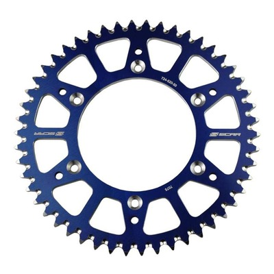 Couronne Scar Ultra-light anti-boue 50 dents pas 420 KTM 65 SX 98-21 bleu