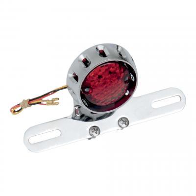 Feu stop Custom Drag Specialties Bobber homologué avec support de plaque intégré chrome