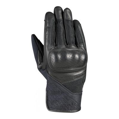 Gants cuir/textile femme Ixon RS Launch lady noir