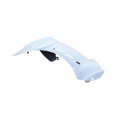 Garde boue arrière blanc brillant adaptable Peugeot 50 Ludix 14 pouces