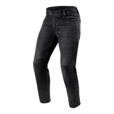 Jeans moto Rev'it Detroit longueur 34 (standard) gris moyen délavé