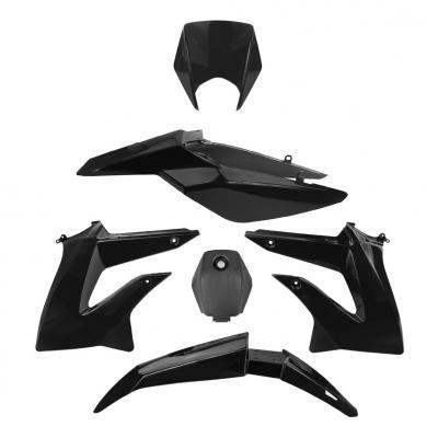 Kit carénage noir 6 pièces Derbi Senda DRD X-Treme 2010-15
