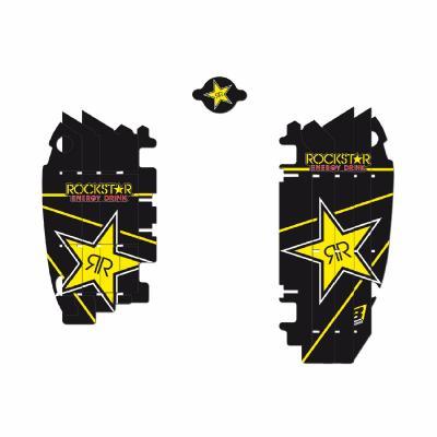Kit déco de radiateur Blackbird Racing Rockstar Energy Kawasaki 450 KX-F 09-15 noir/jaune