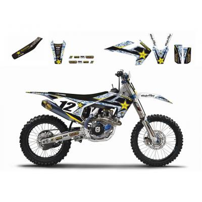Kit déco + Housse de selle Blackbird Rockstar Energy Husqvarna 501 FE 17-18