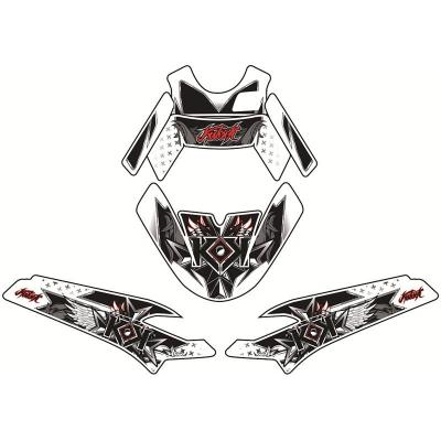 Kit déco Kutvek Demon rouge MBK Nitro