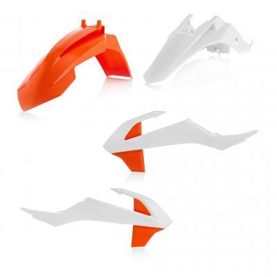 Kit plastique Acerbis KTM 65 SX 16-21 blanc/orange 2 (couleur origine 19)