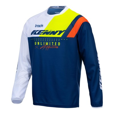 Maillot cross enfant Kenny Track Focus navy/jaune fluo