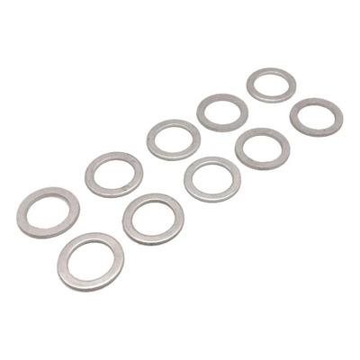 Pack de 10 joints de bouchon de vidange aluminium Ø10xØ16x1,50 mm