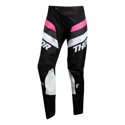 Pantalon cross femme Thor Pulse Racer noir/rose
