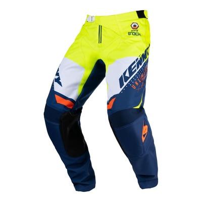Pantalon cross Kenny Track Focus navy/jaune fluo