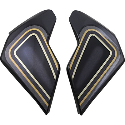 Plaques latérales Icon pour casque Airflite El Centro noir/or