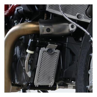 Protection de radiateur d'huile R&G Racing Titane Ducati Panigale 1100 V4 18-20