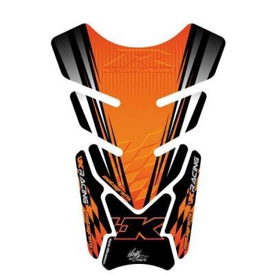 Protection de réservoir Motografix noir/orange Kawasaki 4 pièces