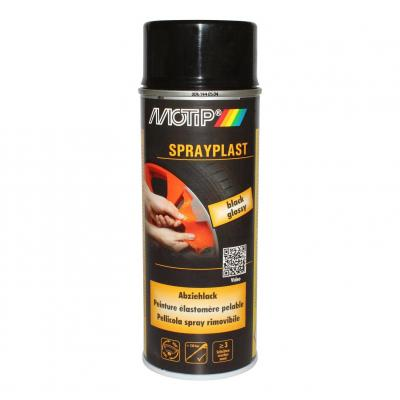 Spray peinture élastomère Motip Noir 400ml