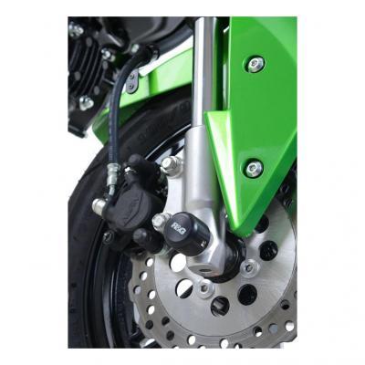 Tampons de protection de fourche R&G Racing noir Kawasaki Z 125 18-20