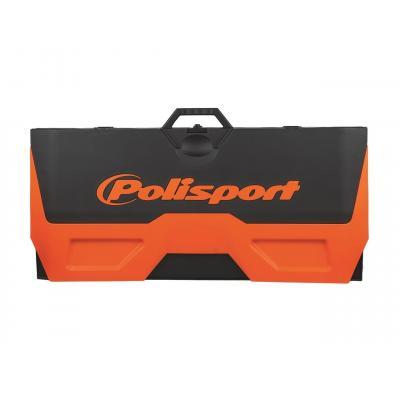 Tapis récupérateur pliable Polisport Bike Mat bicolore orange/noir