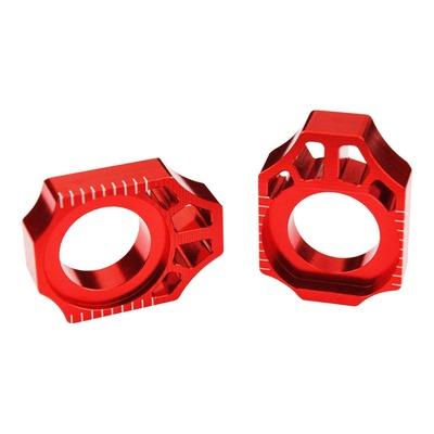 Tendeur de chaîne Scar aluminium anodisé rouge pour Kawasaki KX 250 F 04-16