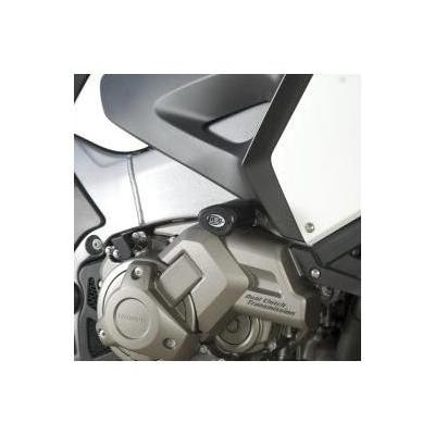 Tampons de protection R&G Racing Aero noir Honda VFR1200X Crosstourer 12-17