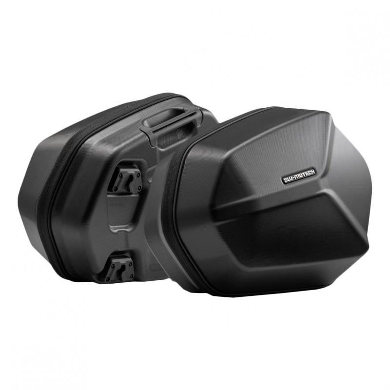 Valises latérale SW-Motech Aero ABS noires support EVO Honda CBF 500 04-06
