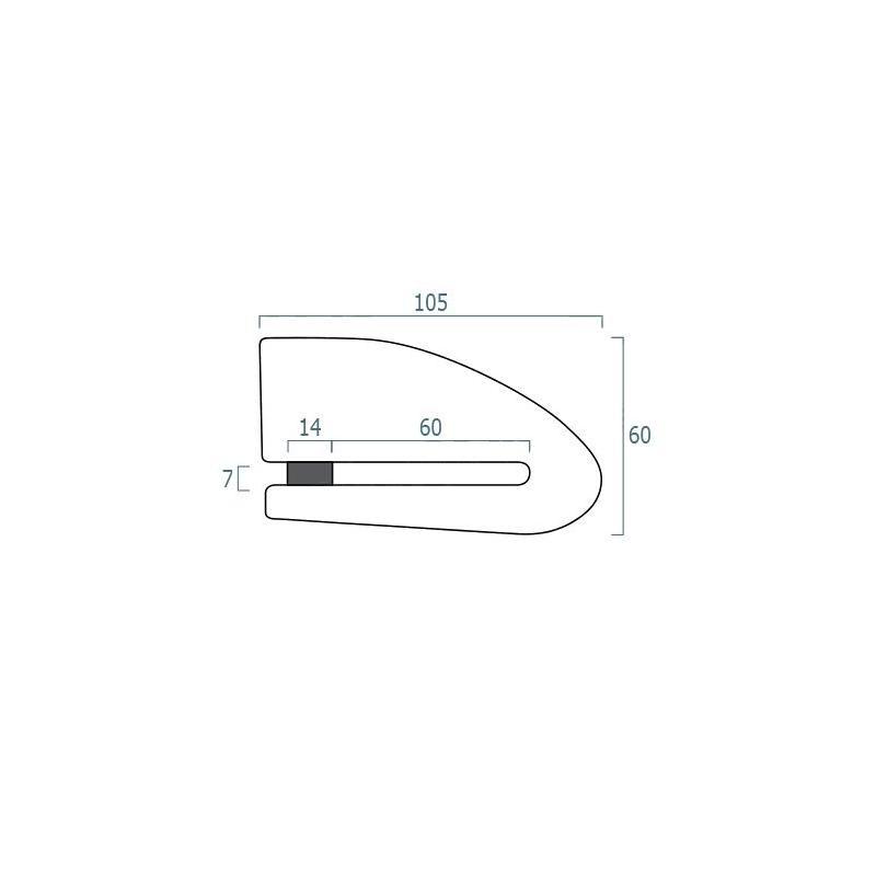 Antivol bloque disque connecté avec alarme Xena XX15 Bluetooth SRA - 2