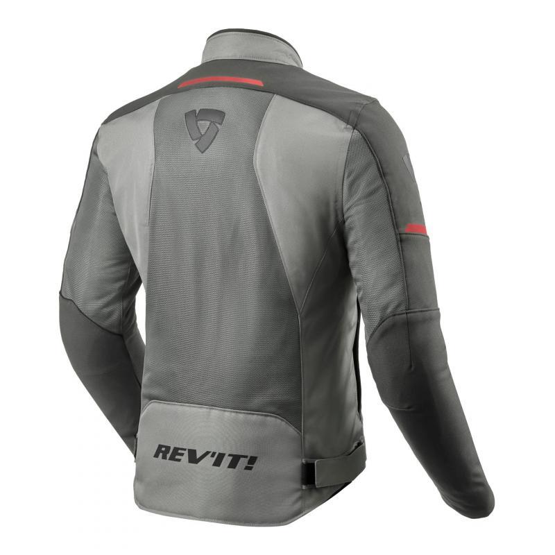 Blouson textile Rev'it Airwave 3 gris/anthracite/rouge - 1
