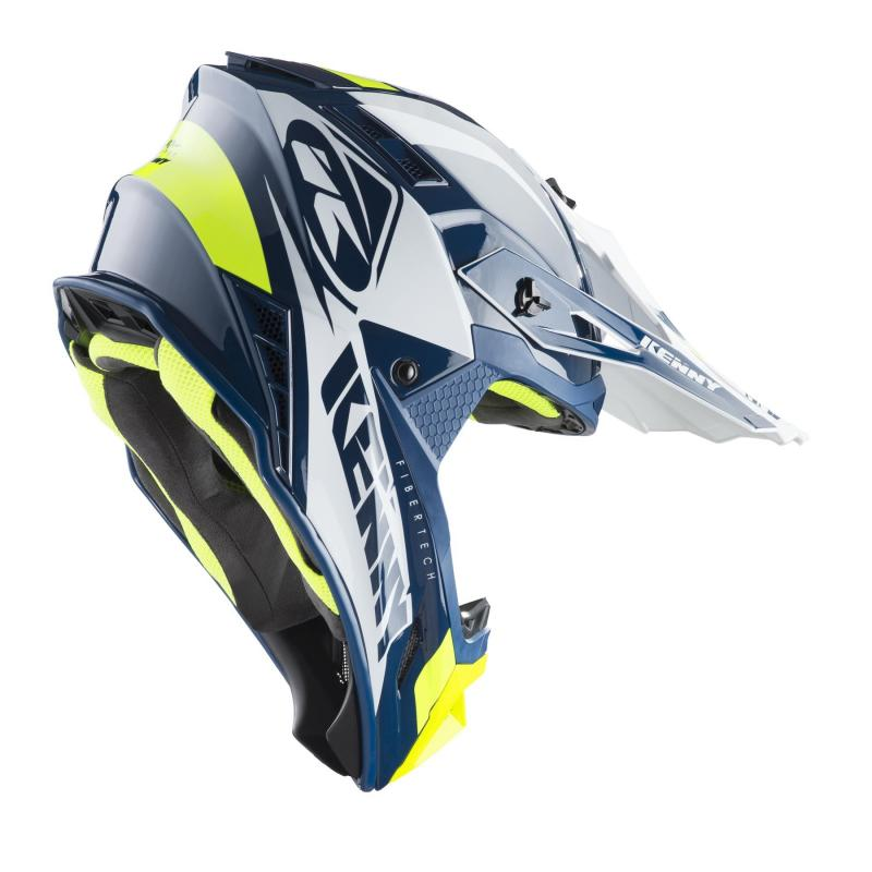 Casque cross Kenny Trophy navy/blanc - 1