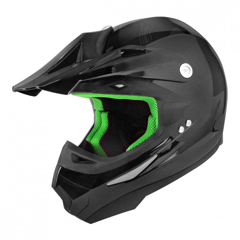 Casque cross TNT sc05 noir brillant uni