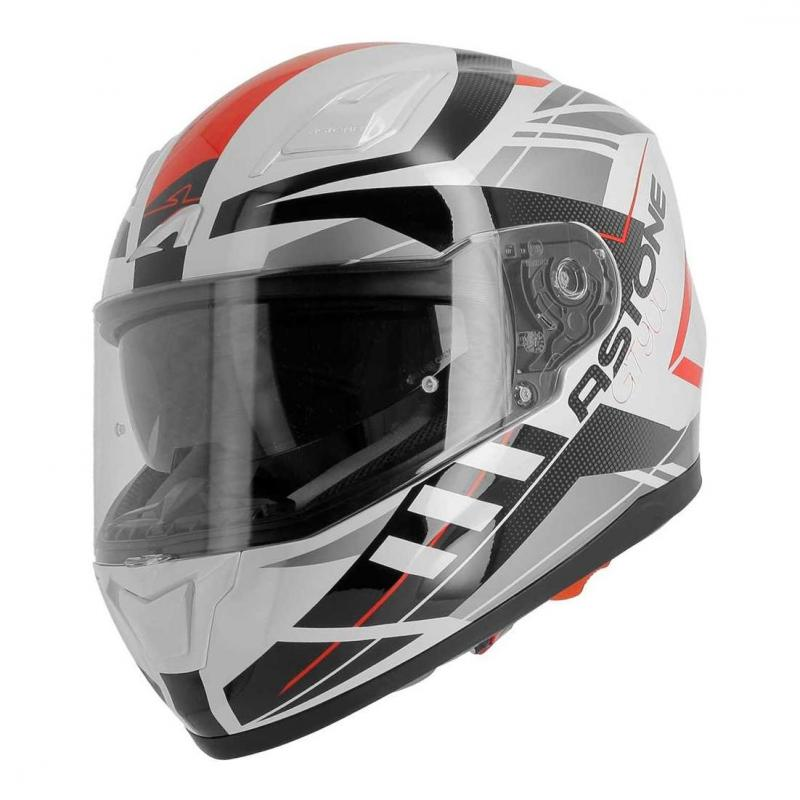 Casque intégral Astone GT900 exclusive STREET blanc/rouge