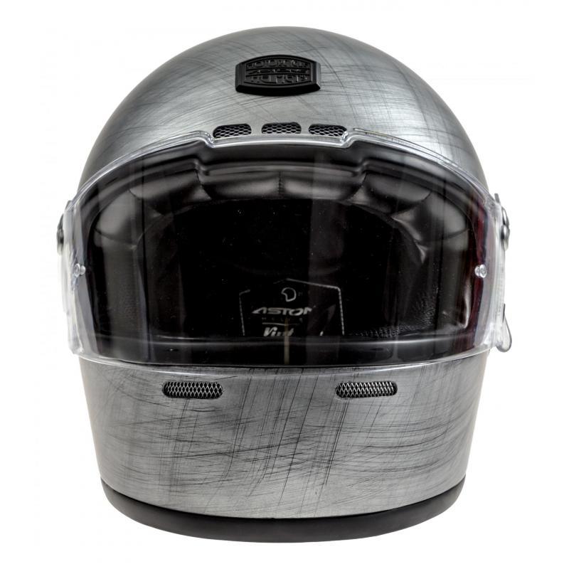 Casque intégral Astone VINTAGE GT RETRO mat gris - 3