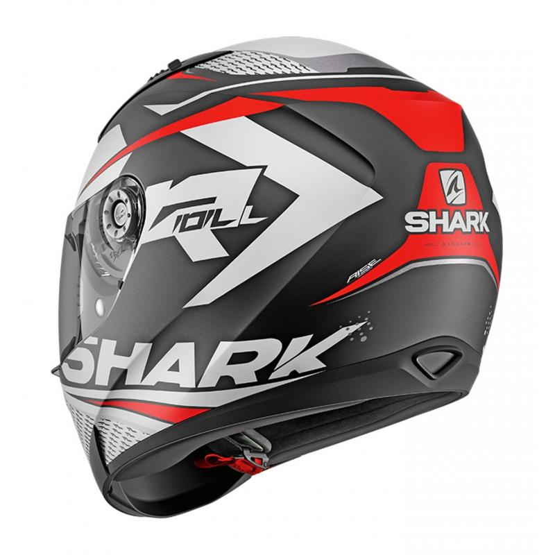 Casque intégral Shark Ridill 1.2 Stratom Mat noir/blanc/rouge - 1