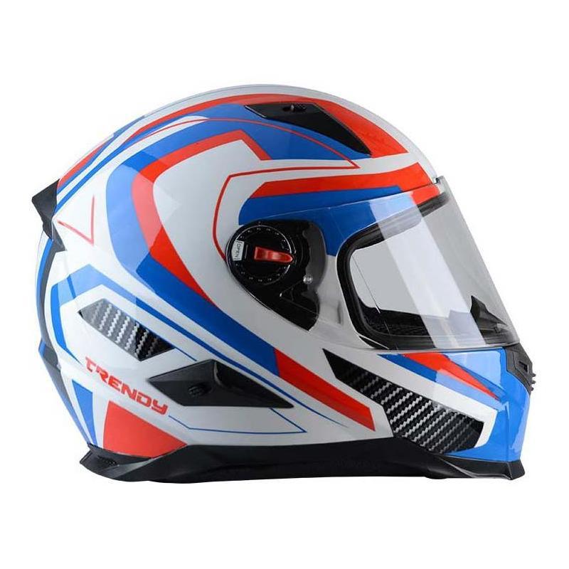Casque intégral Trendy T-501 Enkel bleu / blanc / rouge - 1