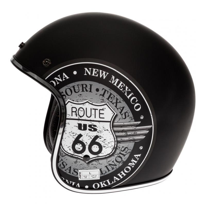 Casque jet AFX FX-76 Route 66 noir/gris - 1