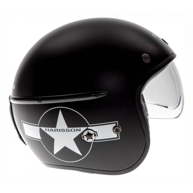 Casque jet Harisson Corsair Star Déco noir/blanc mat - 2
