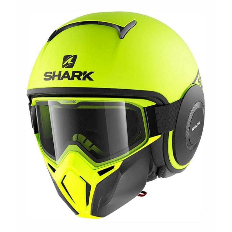 Casque jet Shark Street-Drak Neon Mat jaune/noir/noir