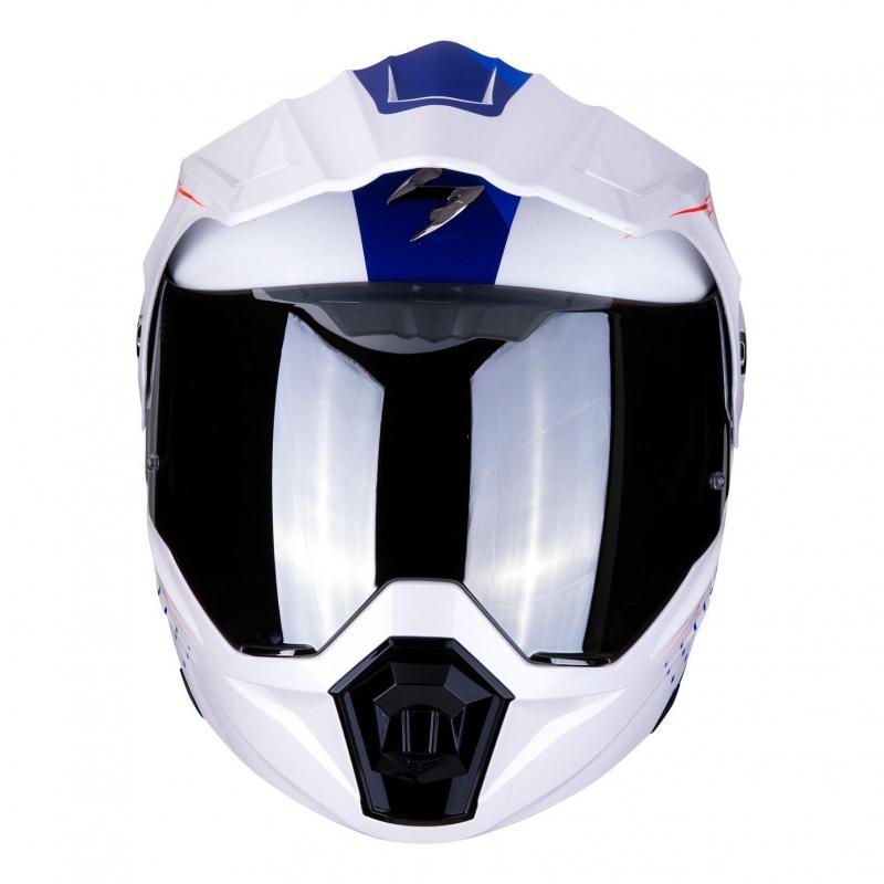 Casque modulable Scorpion ADX 1 Horizon Pearl blanc/rouge/bleu - 5