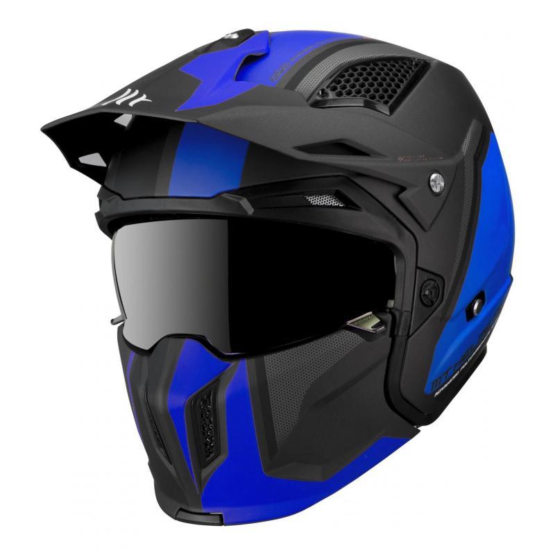 Casque transformable MT Helmets Streetfighter SV bleu noir mat