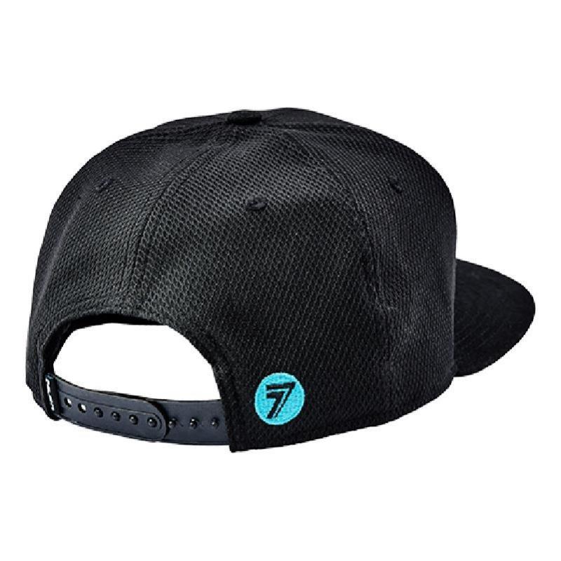 Casquette Seven Brand noir/aqua - 1